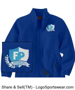 FPA Fleece Jacket Royal *Embroidered Design Zoom