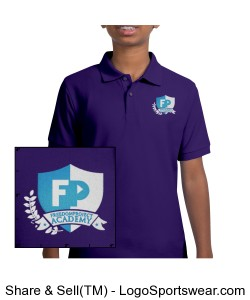 FPA Polo Purple *Embroidered Design Zoom
