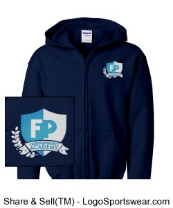 FPA Zip Hoodie Navy *Embroidered Design Zoom