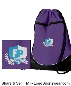 FPA Cinch Bag Purple *Embroidered Design Zoom