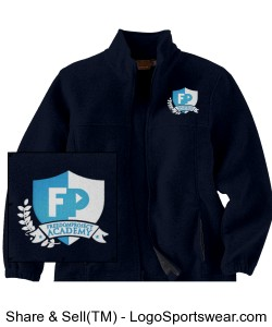 FPA Fleece Jacket Navy *Embroidered Design Zoom