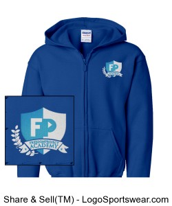 FPA Zip Hoodie Royal *Embroidered Design Zoom
