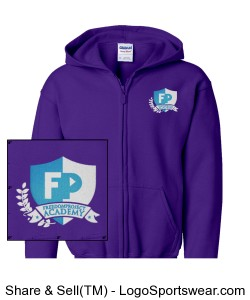 FPA Zip Hoodie Purple *Embroidered Design Zoom