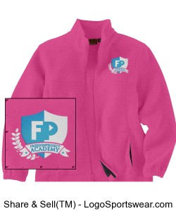 FPA Fleece Jacket Pink *Embroidered Design Zoom
