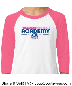 FPA BASEBALL TEE PINK Design Zoom